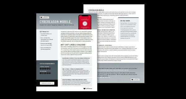 Cybereason Mobile Datasheet