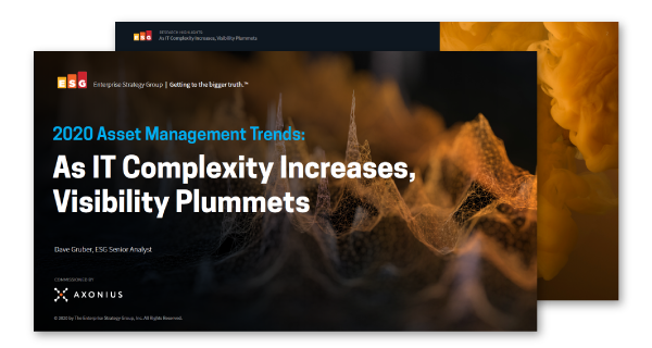 Axonius asset management trends 2020